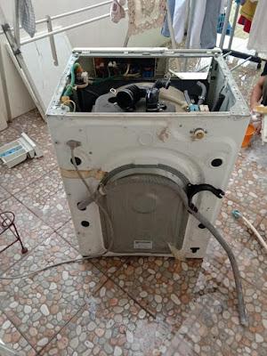 kode error mesin cuci samsung 4E, cara mengatasi mesin cuci samsung error 4E