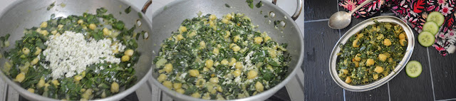Step 4 - Drumstick Leaves Channa Stir Fry | Moringa Leaves Chickpeas Poriyal