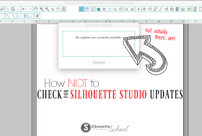 How not to check for silhouette studio updates silhouette school silhouette studio no updates versions silhouette cameo silhouette cameo tutorials fandeluxe Images