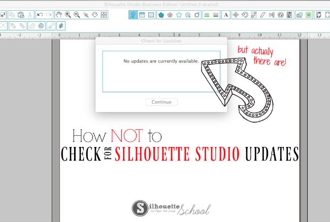 silhouette studio no updates versions, silhouette cameo, silhouette cameo tutorials