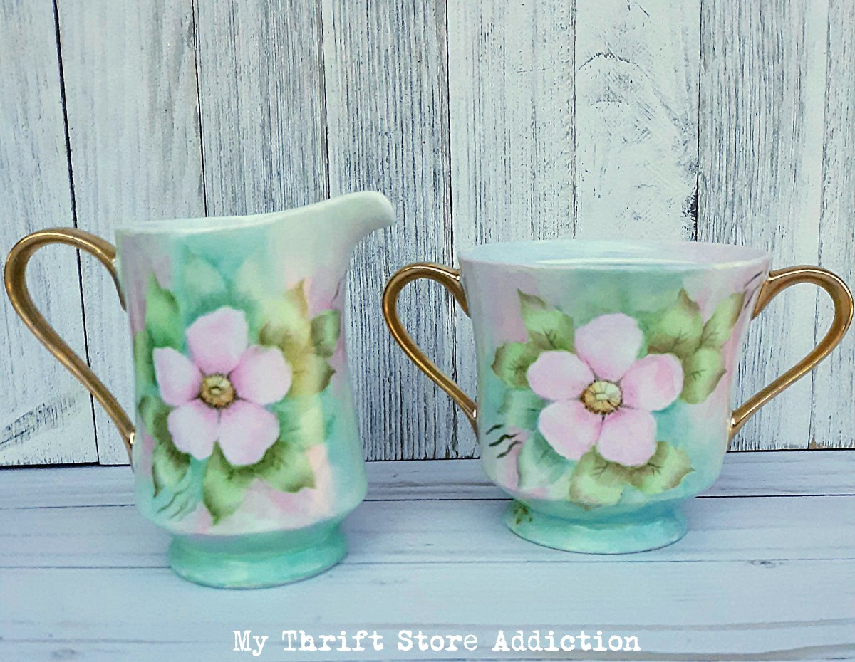 Hand painted vintage porcelain
