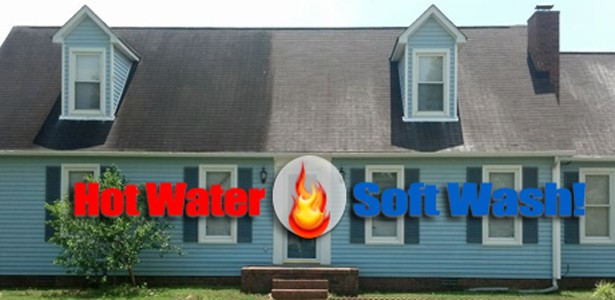 Ugly Shingles in New Hampshire is a Hot Soft Pressure Washing Solution