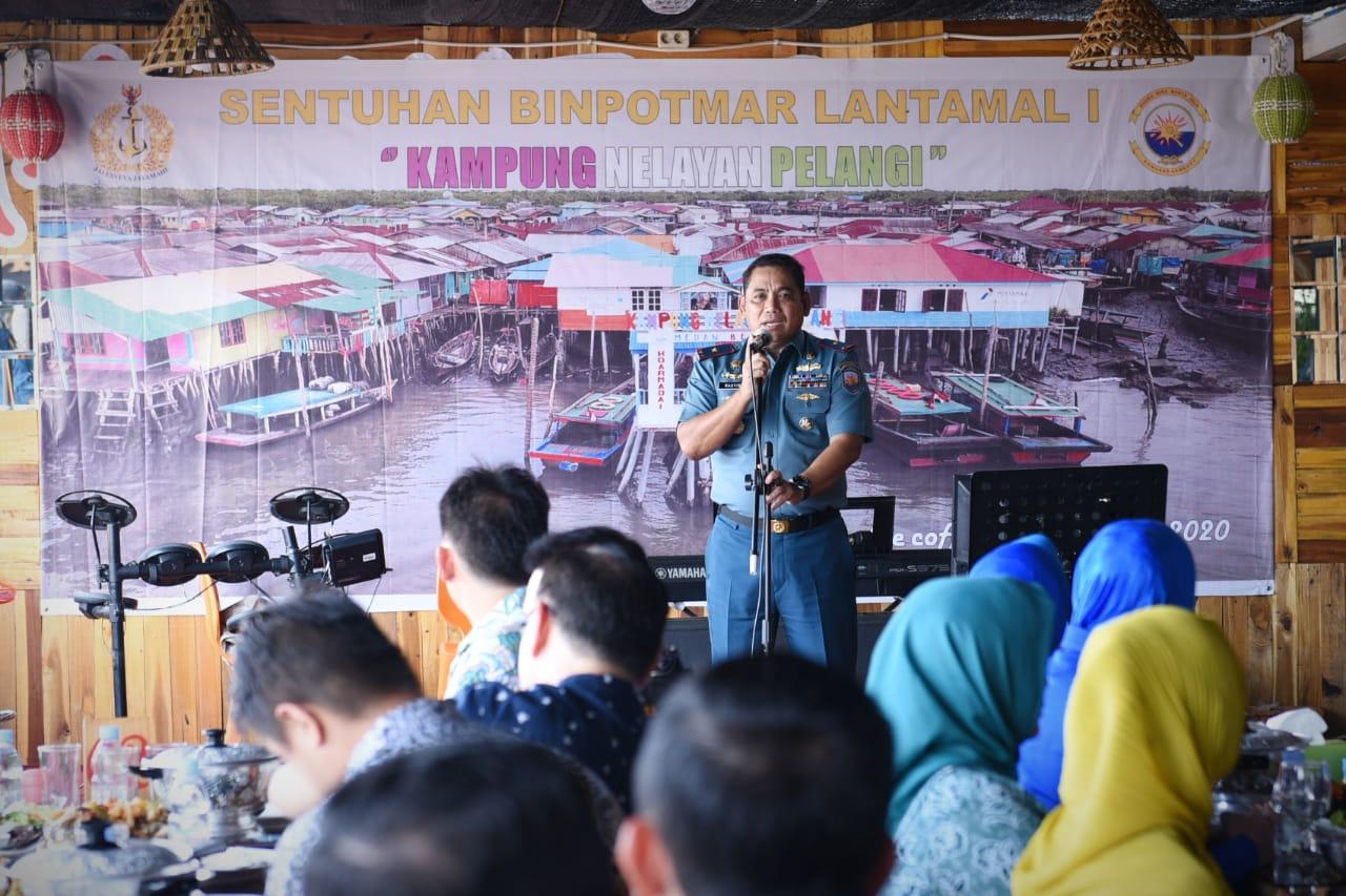 Danlantamal I Canangkan Kampung Nelayan Menjadi Kampung Pelangi Belawan