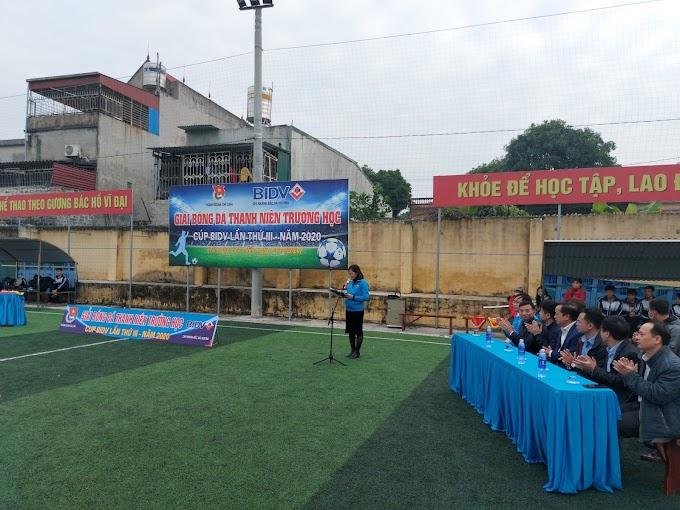 Giải bóng đá thanh niên khối THPT, Trung tâm GDNN – GDTX thành phố tranh Cup BIDV lần thứ III, năm 2020