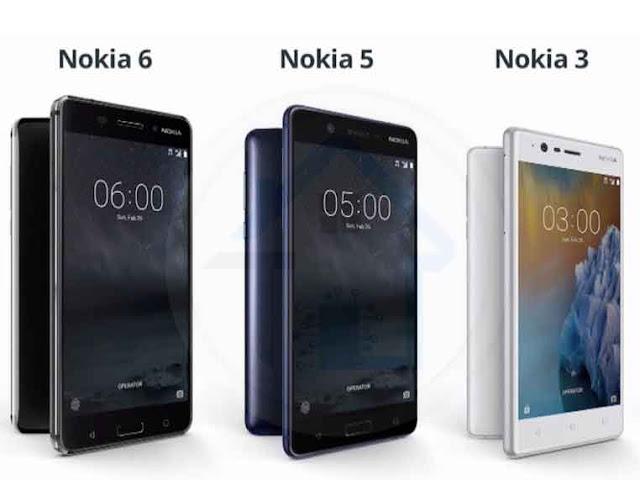 نوكيا تعلن عن ثلاثة هواتف ذكية جديدة بمؤتمرMWC 2017