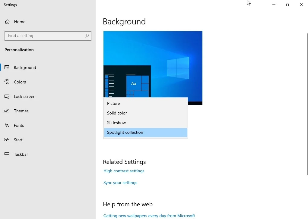 Finalmente le immagini Spotlight anche come sfondo desktop in Windows 10
