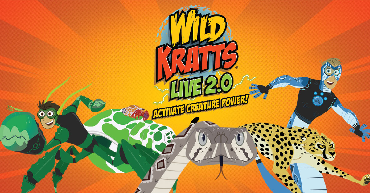 Upcoming and GIVEAWAY: Wild Kratts LIVE 2.0 - Activate Creature Power!, May 20, 2020 at the Fisher Theatre, Detroit {ends 9/26}