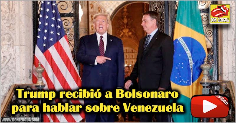 Trump recibió a Bolsonaro para hablar sobre Venezuela