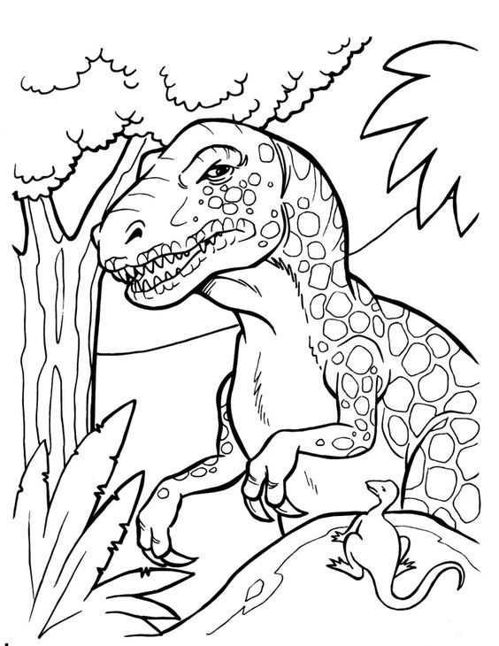 Dinosaurs coloring pages 16