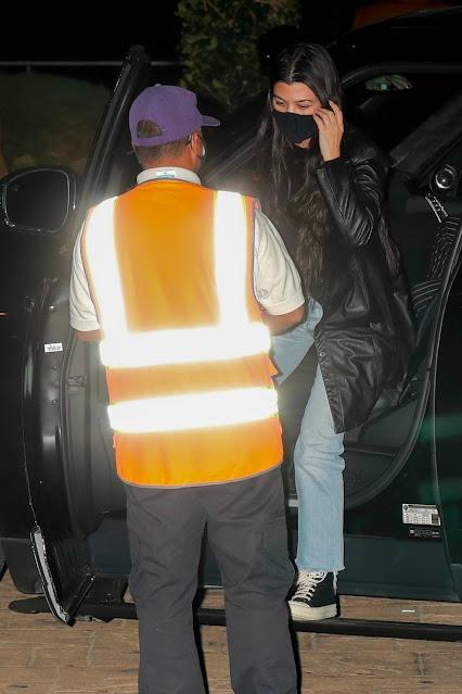 Kourtney Kardashian – With her son Mason at Nobu Restaurant in Malibu