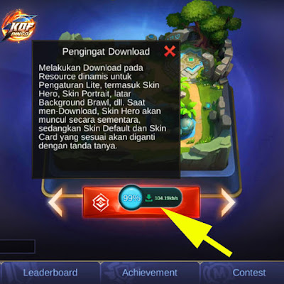 tombol floating download mobile legend