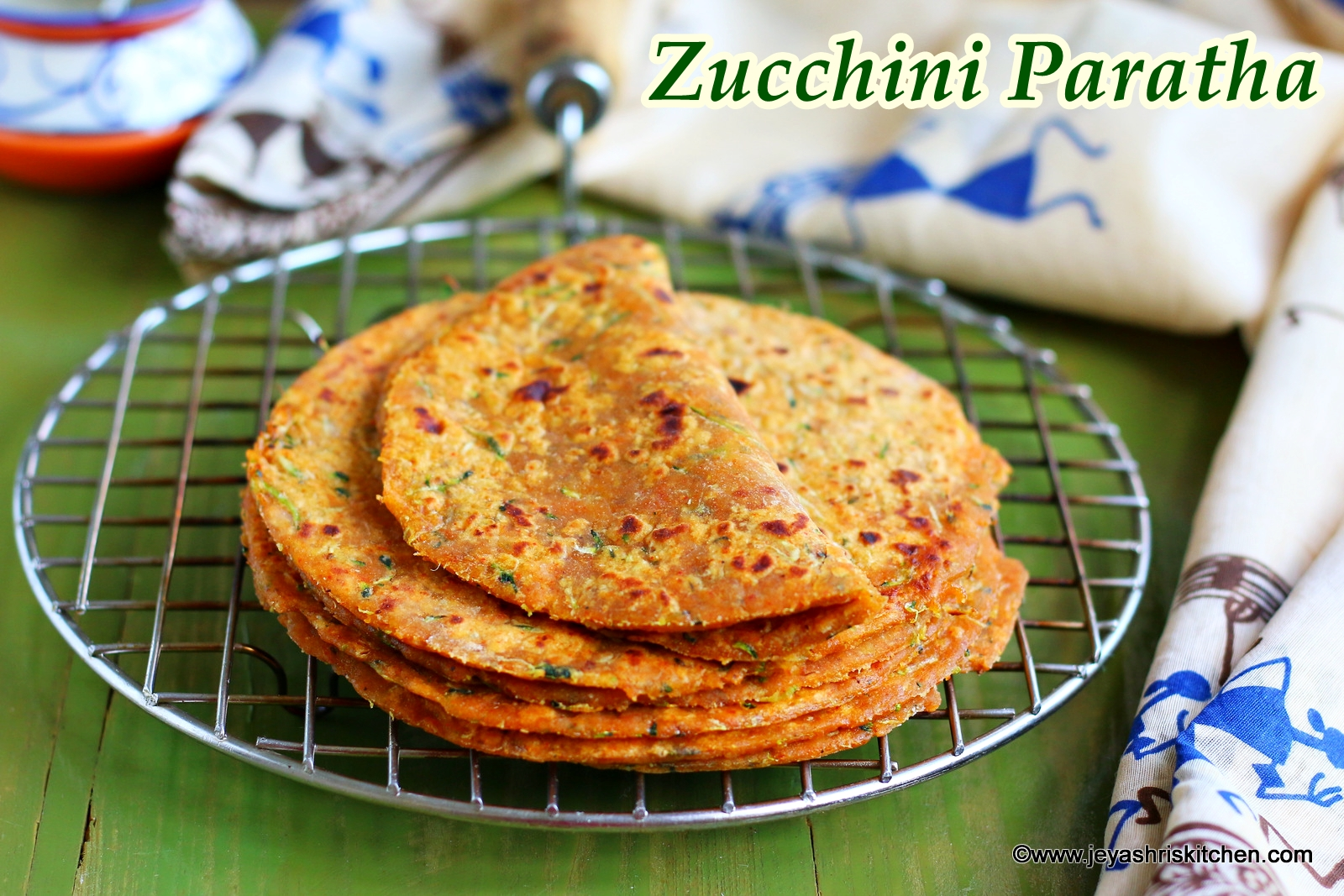 zucchini paratha recipe paratha recipes - Jeyashris Kitchen
