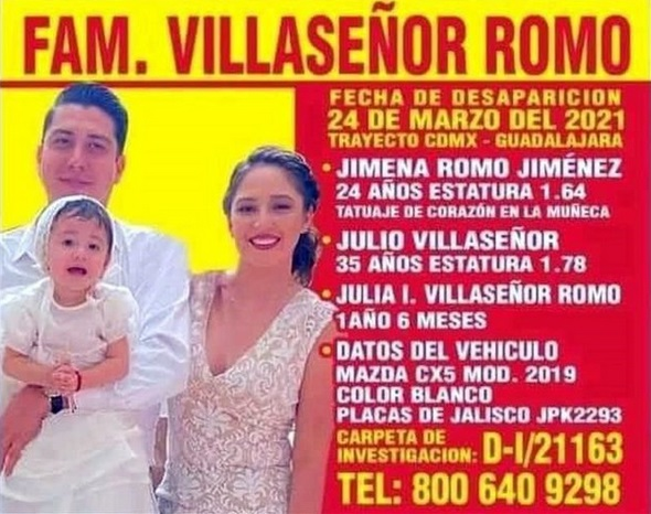 Encuentran a la familia que había desaparecido en Jalisco