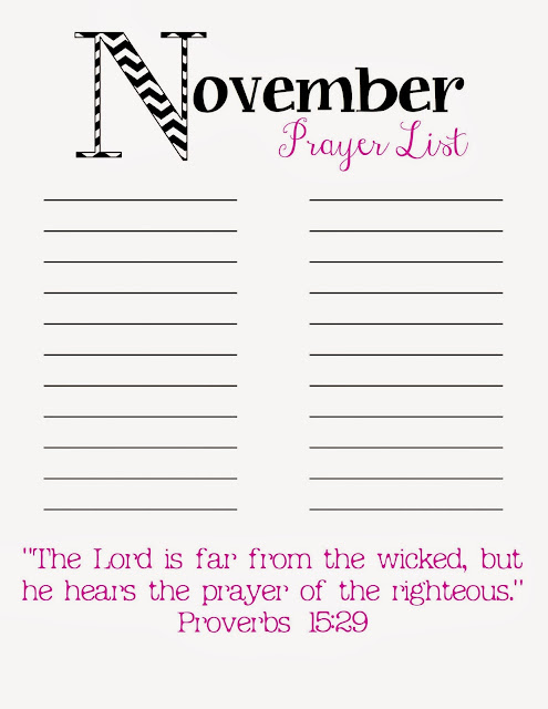 It's just a picture of Selective Printable Prayer List