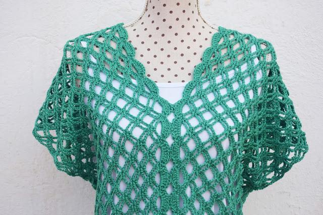 5 - Crochet Imagen Blusa verde de verano a crochet y ganchillo por Majovel Crochet