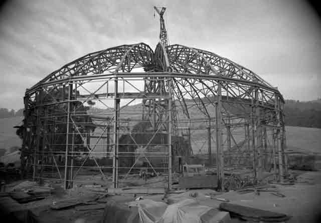 Berkeley lab cyclotron under construction, 23 October 1941 worldwartwo.filminspector.com