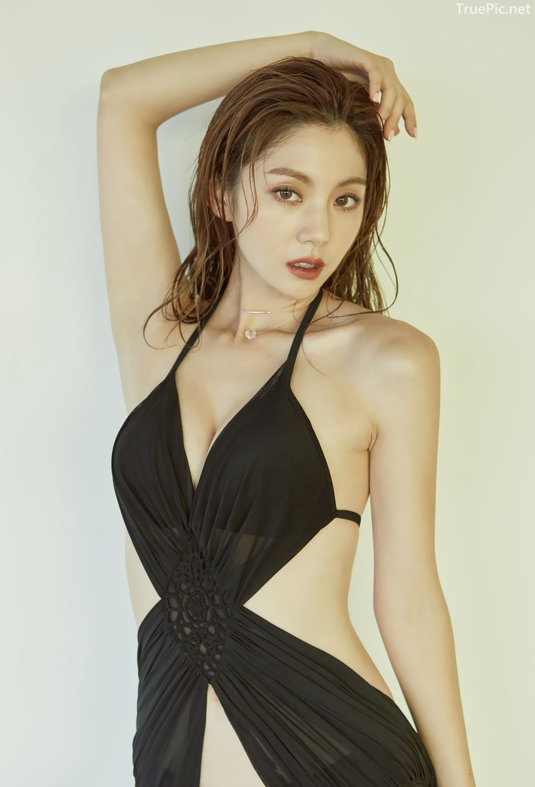 Korean model and fashion - Lee Chae Eun - Monokini for summer vacation - Picture 6