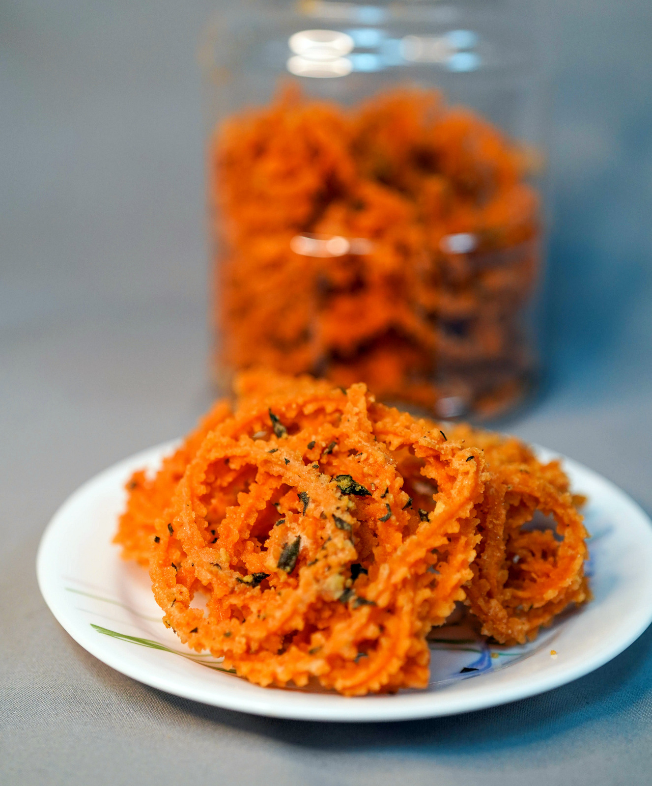 salty eggu: salted egg yolk murukku