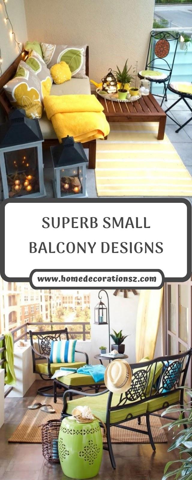 SUPERB SMALL BALCONY DESIGNS