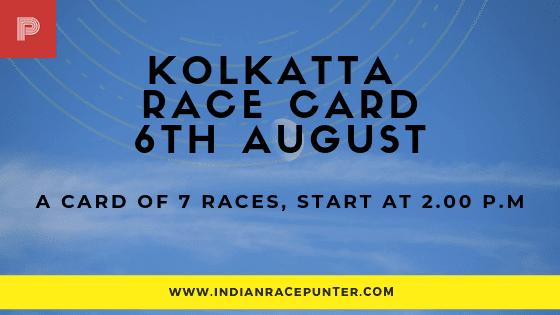 Kolkatta Race Card, free indian horse racing tips, trackeagle,racingpulse