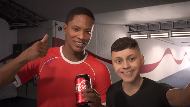 Alex Hunter Coke Zero FIFA18