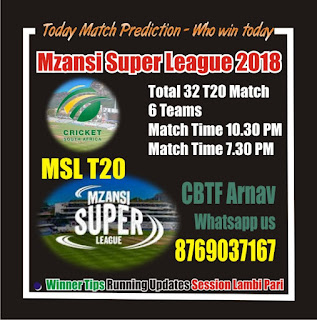 Today Prediction Jozi Stars vs Nelson Mandela Bay Giants 1st MSL T20 Match
