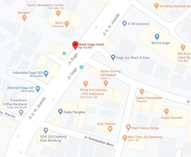 Map Letak Hotel Bukit Dago Bandung