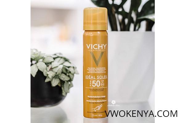 Xịt khoáng chống nắng kiềm dầu Vichy Ideal Soleil Face Mist (SPF 50 PA +++)