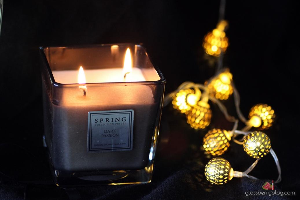 נר ספרינג dark passion spring candle סקירה גלוסברי בלוג איפור וטיפוח