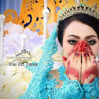 Henna pengantin yang di lukis ole bang edi