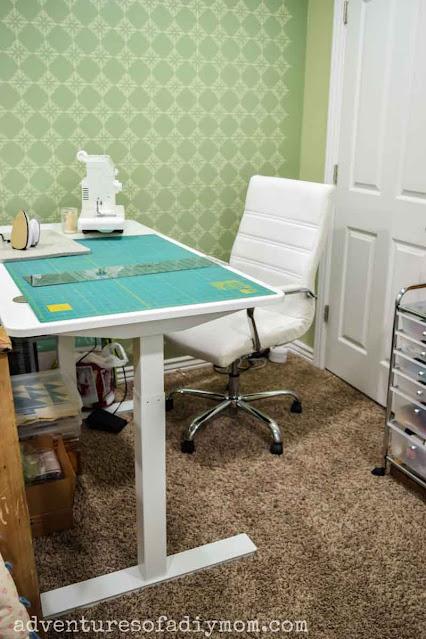 autonomous smart desk 2 set up as a craft table