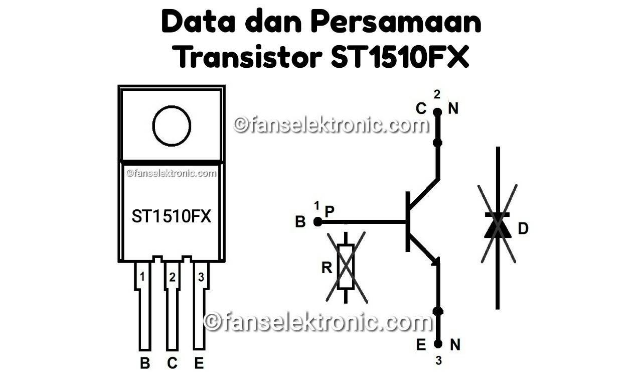 Persamaan Transistor ST1510FX