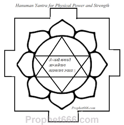 Hanuman Yantra for Wrestlers, Body Builders, Prize Fighters