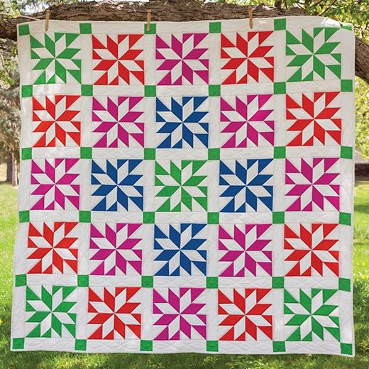 LeMoyne Star Prism Quilt free Pattern