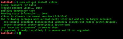 installing x11vnc