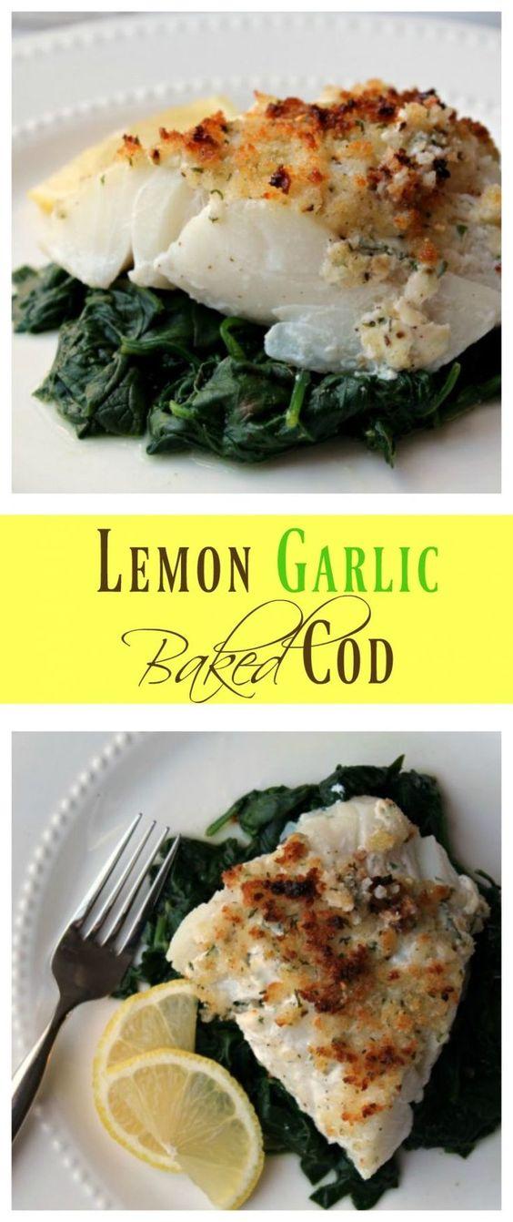 Lemon Garlic Baked Cod