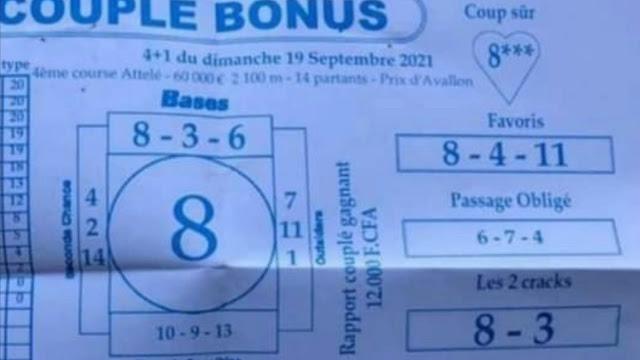 Pronostics quinté pmu dimanche Paris-Turf-100 % 19/09/2021