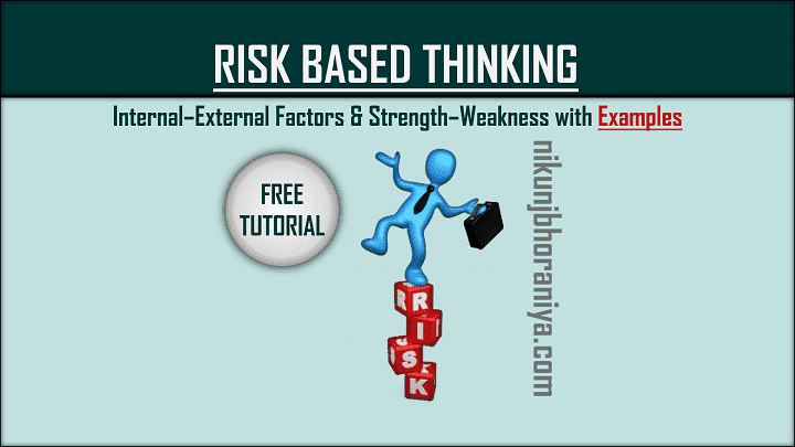 Risk Based Thinking ISO 9001  Risk Management