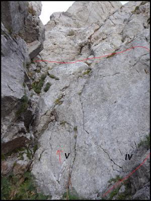 Espolón oeste de Peña Ubiña, primer resalte con cuerda