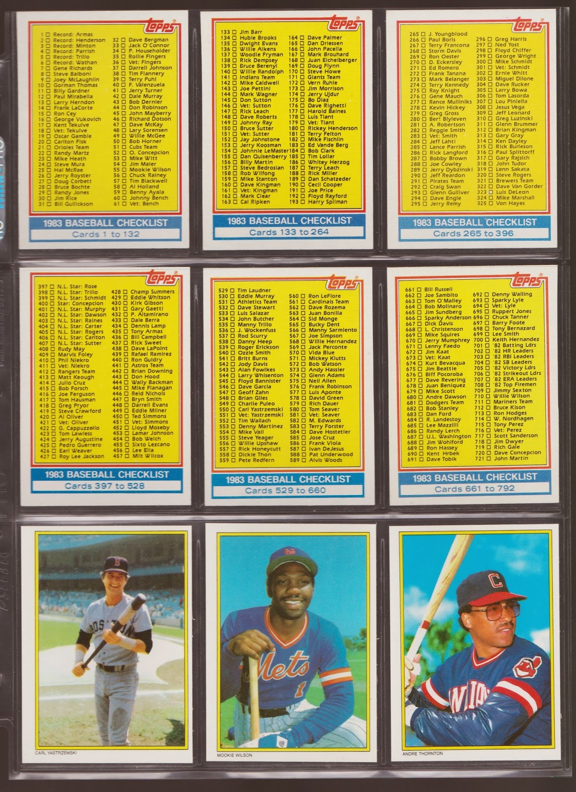 20th Century Topps Baseball 1983 Topps All Star Collectors Edition