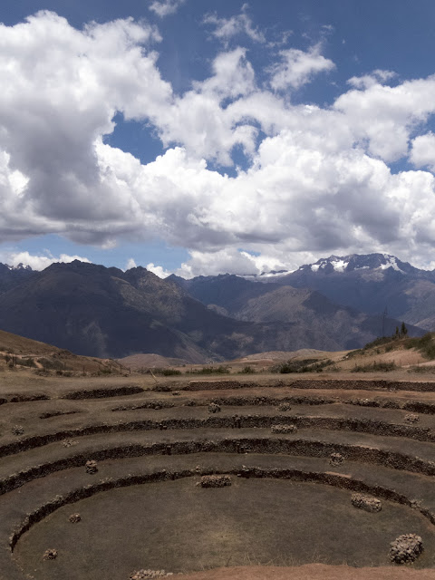 Crop circles at the Moray Incan Farm Laboratory near Ollantaytambo Peru