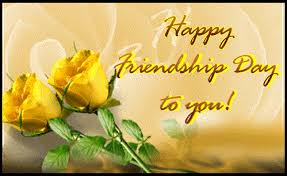 Happy Friendship day flower images with quotes in English and Telugu
