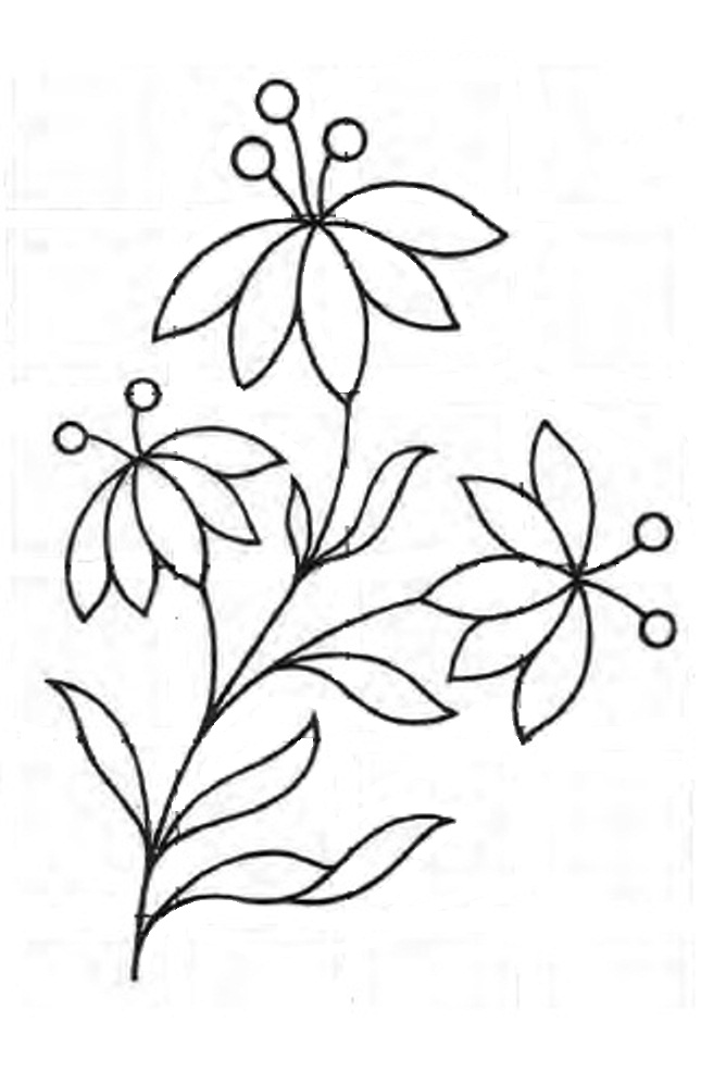 Royce's Hub: Free Embroidery Pattern: A Simple Floral design