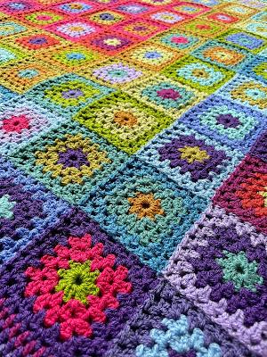 Crochet blanket - pattern is Attic24 'Aria'