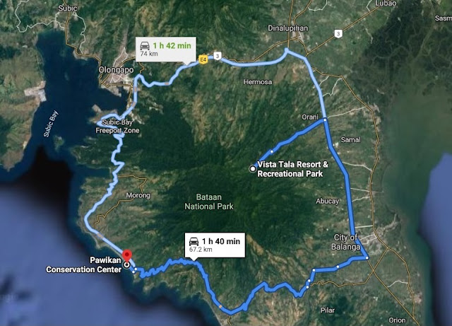 Route to Pawikan Conservation Center