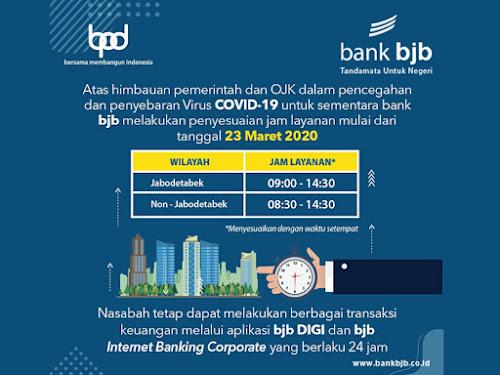 jadwal operasional bank bjb maret 2020
