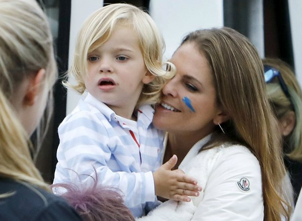 Princess Madeleine, Prince Nicolas, Crown Princess Victoria and Chris O'Neill from the 40th birthday party of Cristina Stenbeck