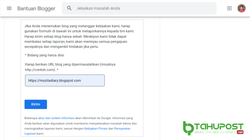 Report Blog Hoax Di Blogspot