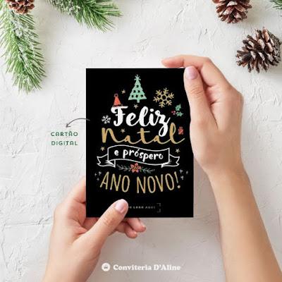 cartão natal corporativo personalizado logotipo empresa
