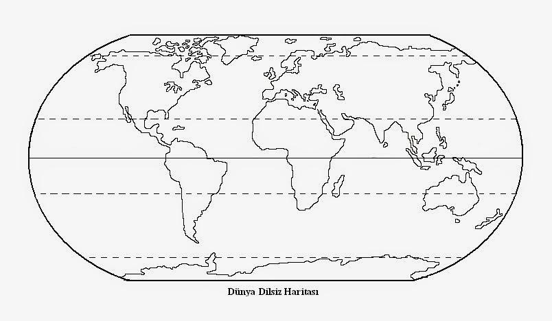 Dünya Haritası Boyama Sayfası Gazetesujin